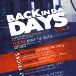 """Friday, May 14th: """"Back in da Days Vol.8″ @ Deity"""