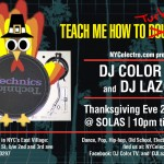 Thanksgiving Eve, DJ Color TV and Lazor will be rocking SOLAS