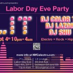 Labor Day Eve party at LIT with NYCelectro.com's DJs