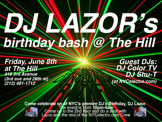 DJLazor Bday Flyer