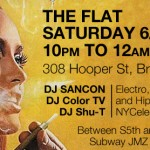 DJ Sancon, ColorTV, and Shu-T at THE FLAT! Saturday