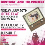 FRIDAY: DJ Color TV's Birthday Party and HD Project (alpha) Debut
