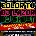 Thanksgiving Night, Dance Party at LIT LOUNGE!!!