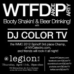 WTFDanceParty is back this Thursday@ Legion in Williamsburg BK