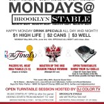 Tonight! NBA Finals and Master of the Mix Finale, and Open Turntables @BrooklynStable