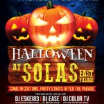 Halloween night at Solas with DJ Eskei 83, DJ Ease, and DJ Color TV